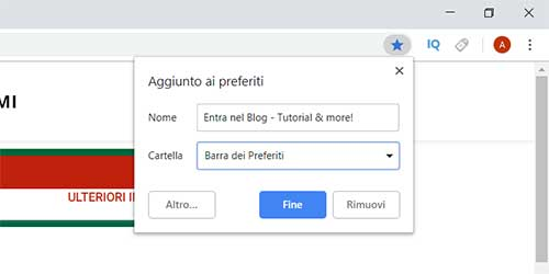 salvare i preferiti su chrome 2