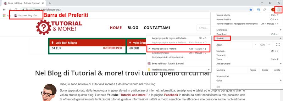 salvare i preferiti su chrome 3