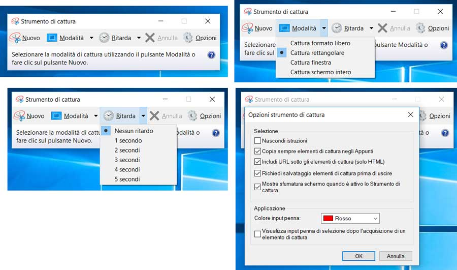 strumento cattura windows completo