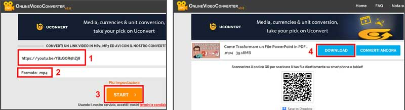 scaricare video youtube onlinevideoconverter