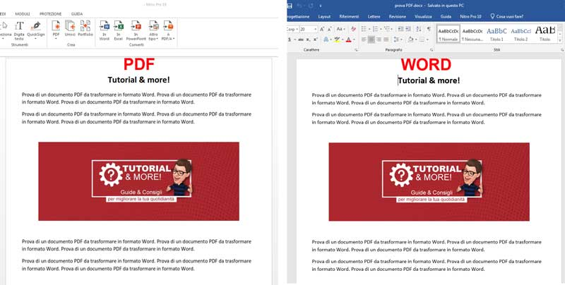 convertire pdf in word con office 2